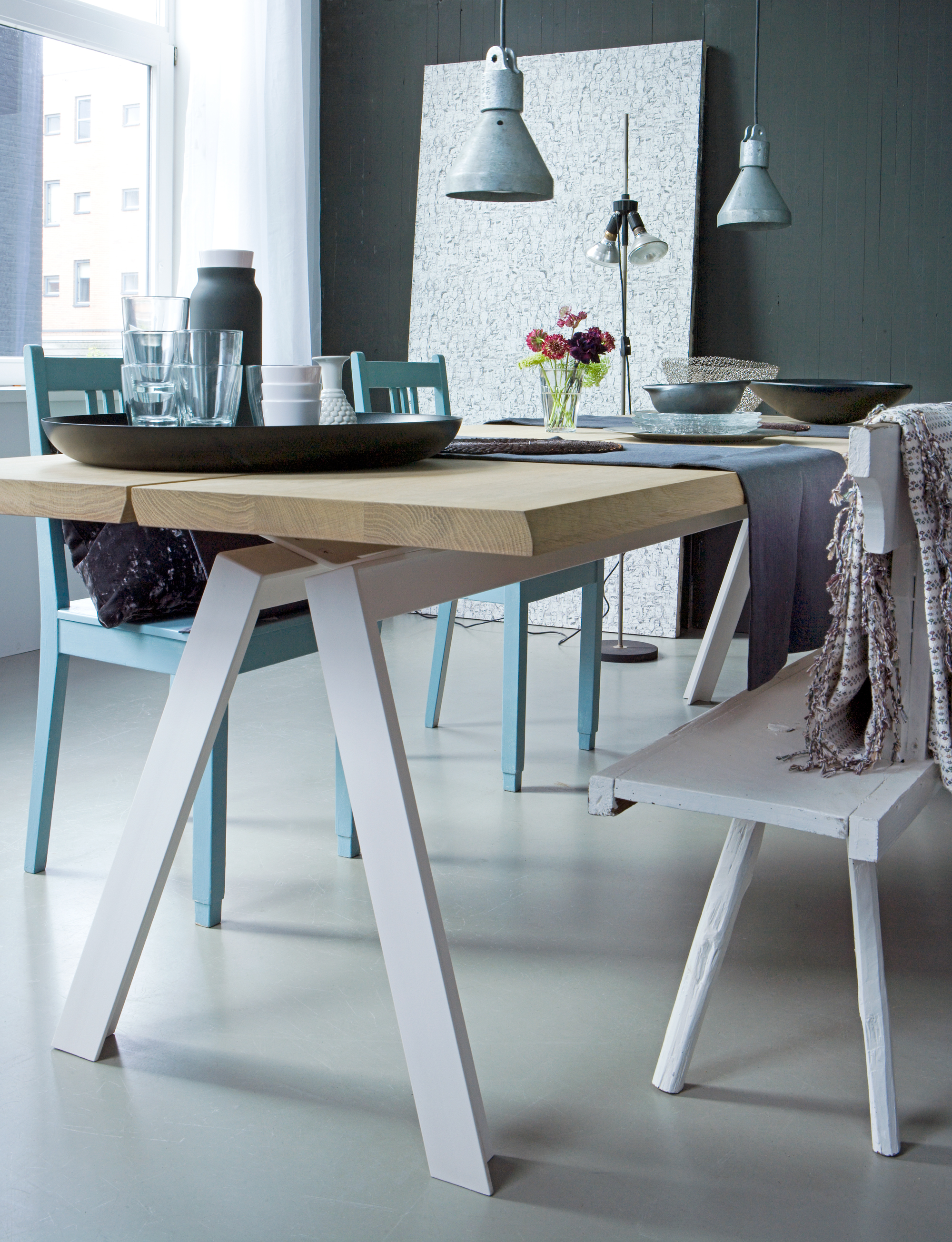 Ikea Tafelblad Met Schragen.Schragen Tafel Metalen En Houten Schragen Vtwonen