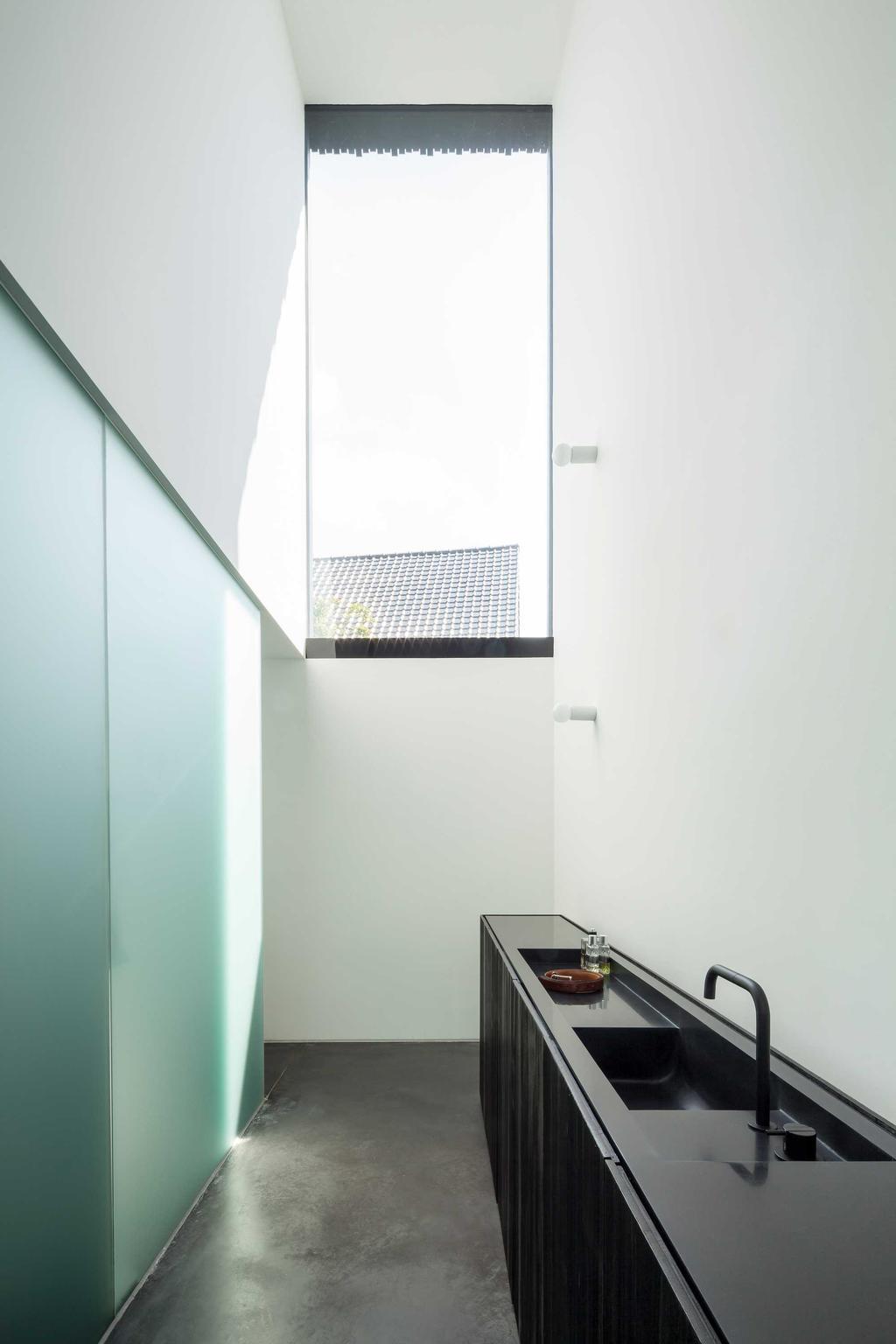 lavabo noir blanc