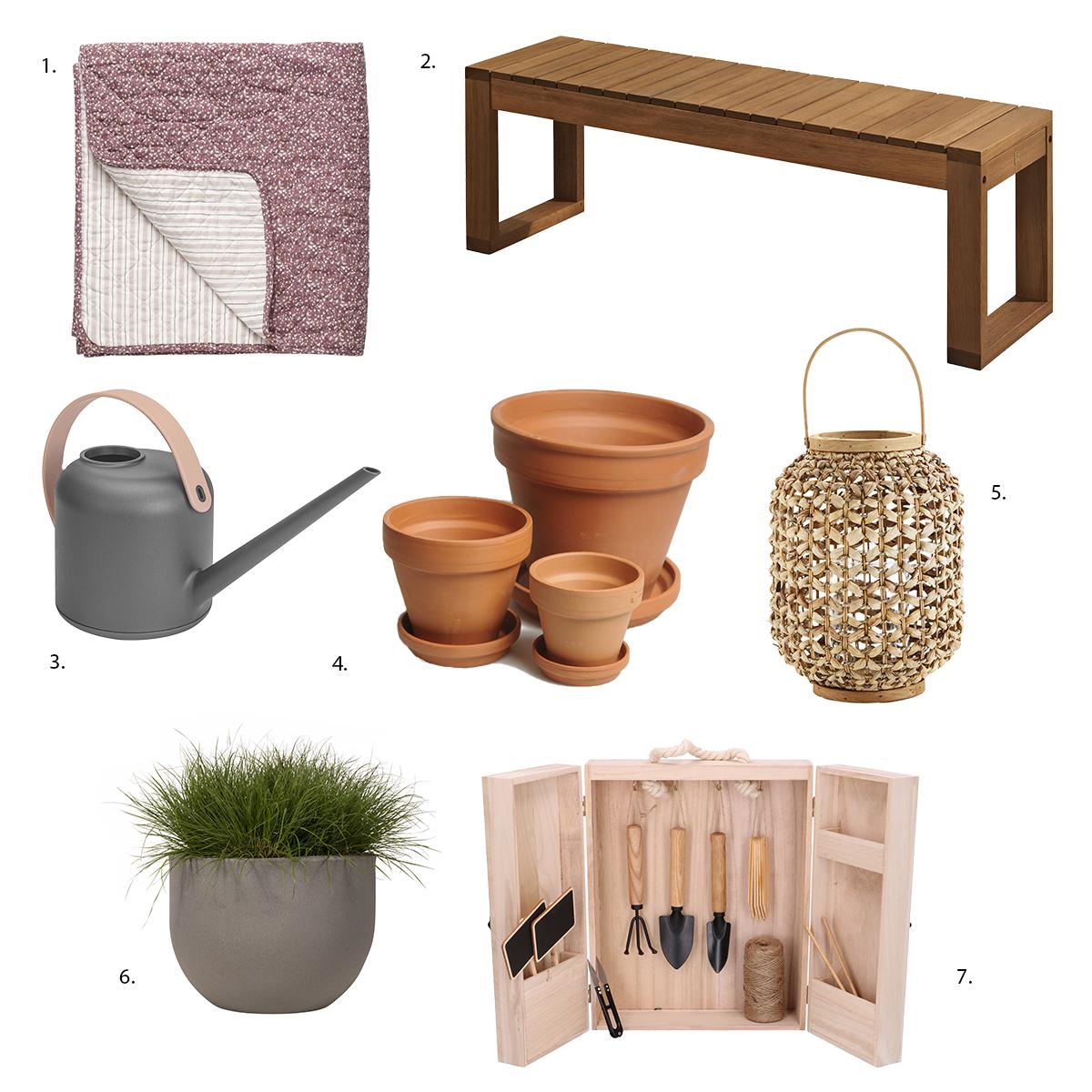 shopping artikelen voor terras en tuin