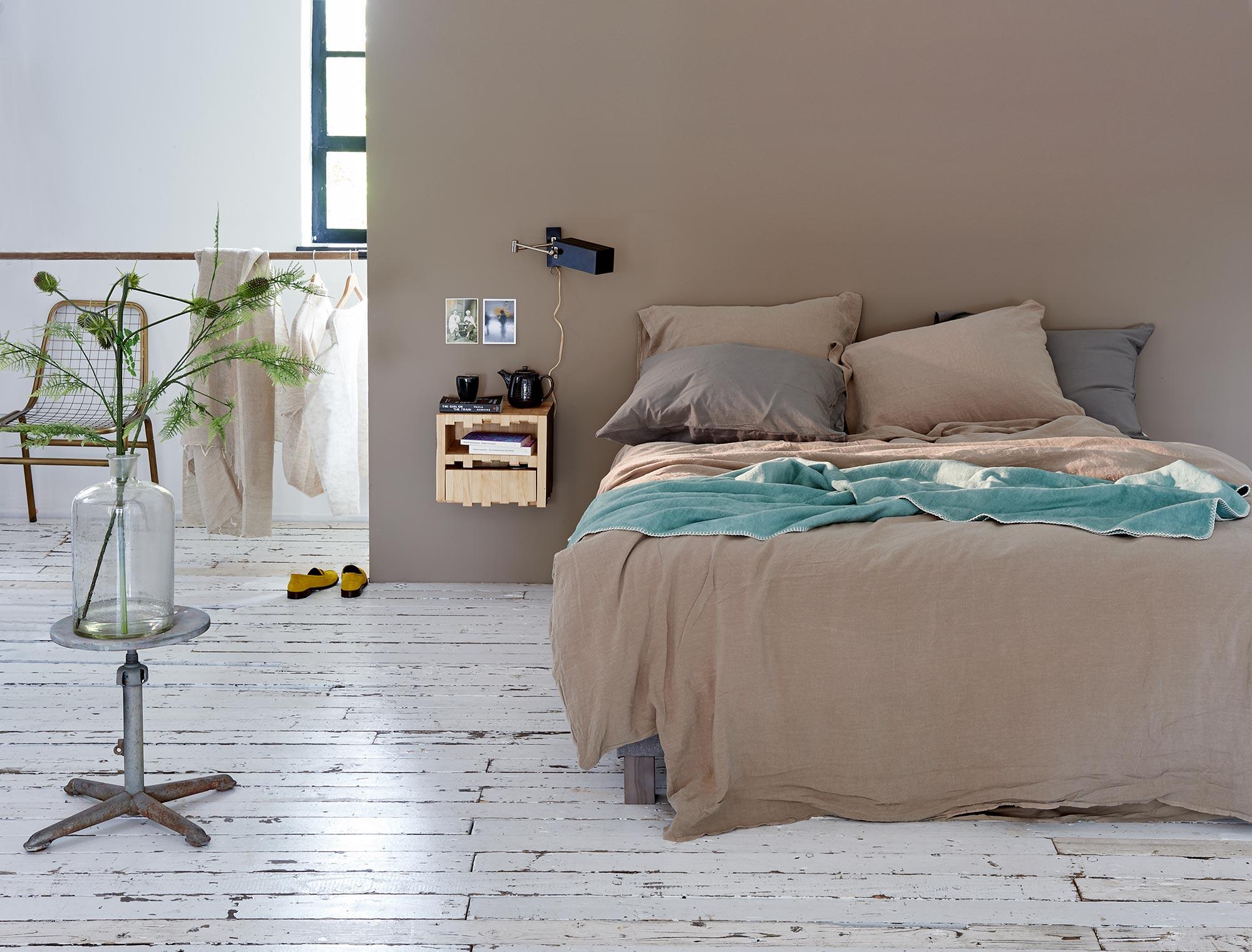 slaapkamer styling flaxkleur