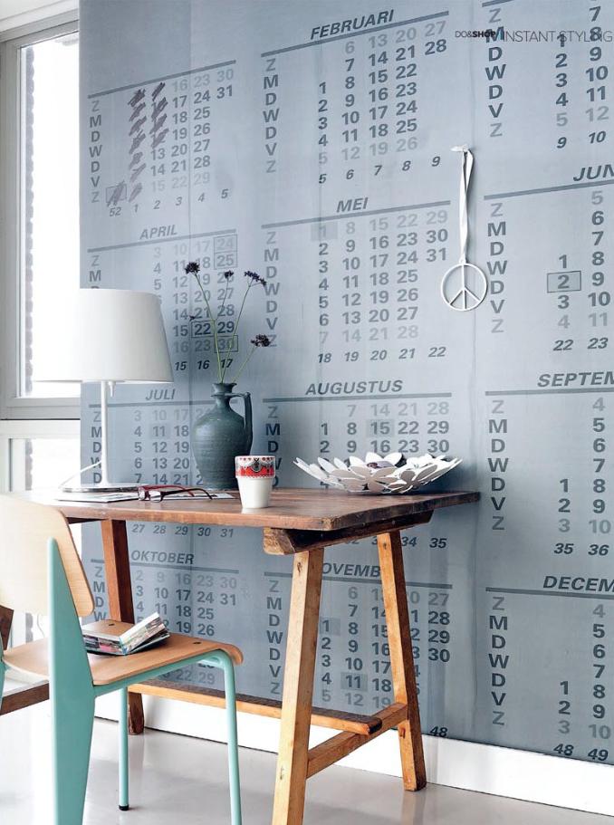 kalender behang