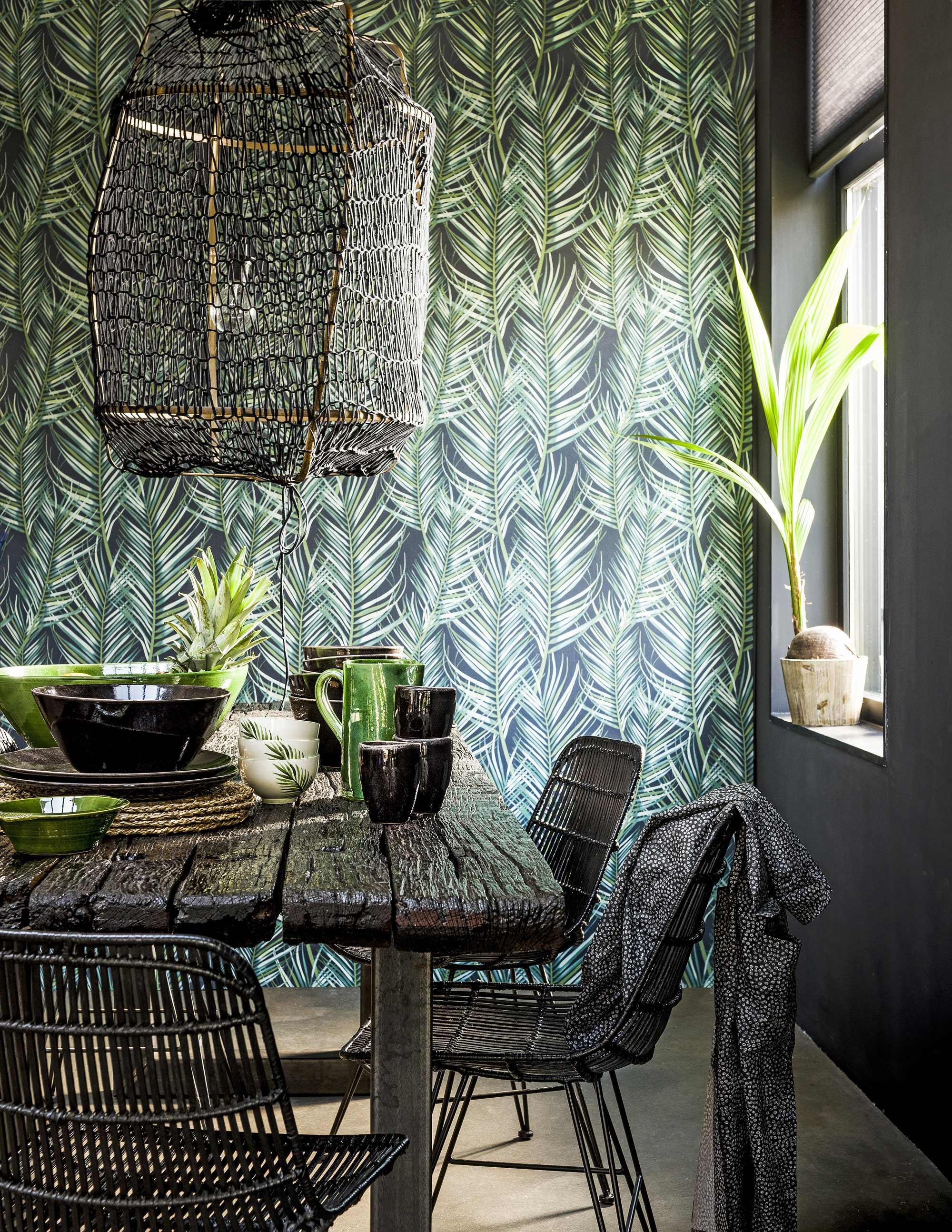 Papier Jungle Vert et Noir