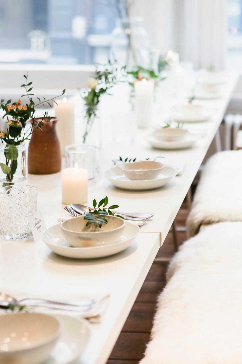 table de fete porcelaine blanche