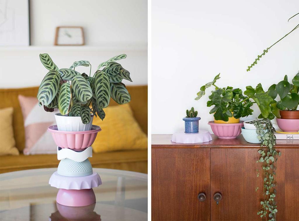 Totem voor je planten van plastic vormen