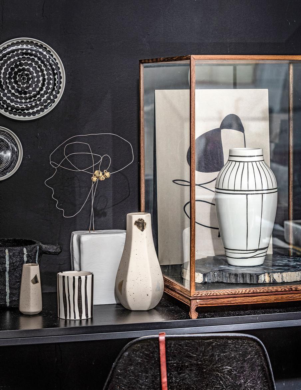 objets céramique motifs graphiques