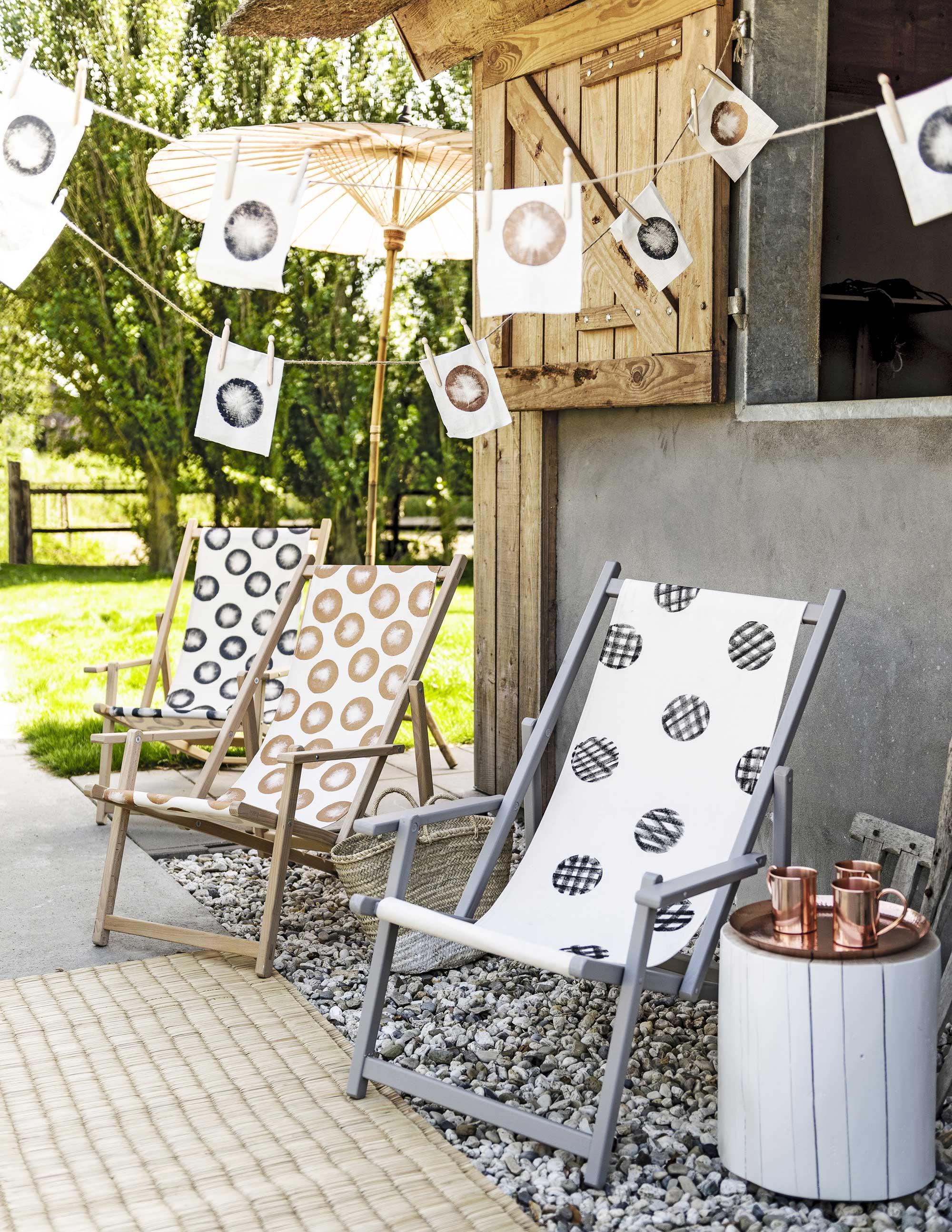 Buiten ♥ feest: DIY strandstoel en slinger | vtwonen