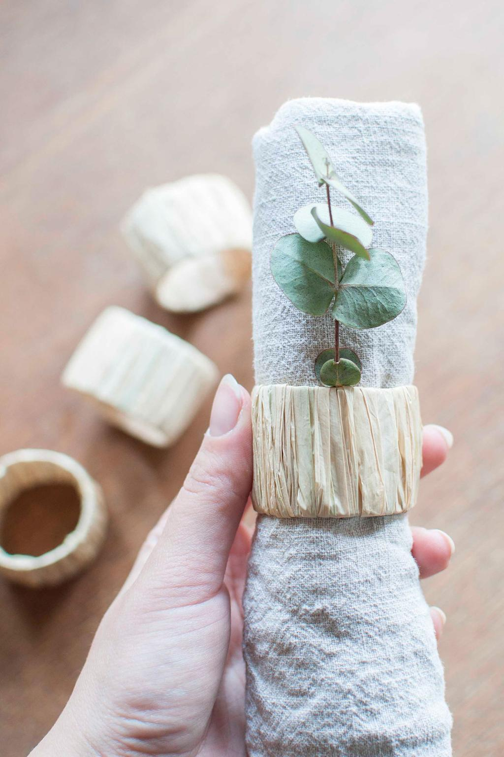 vtdéco - DIY blogs - rond serviette gros plan
