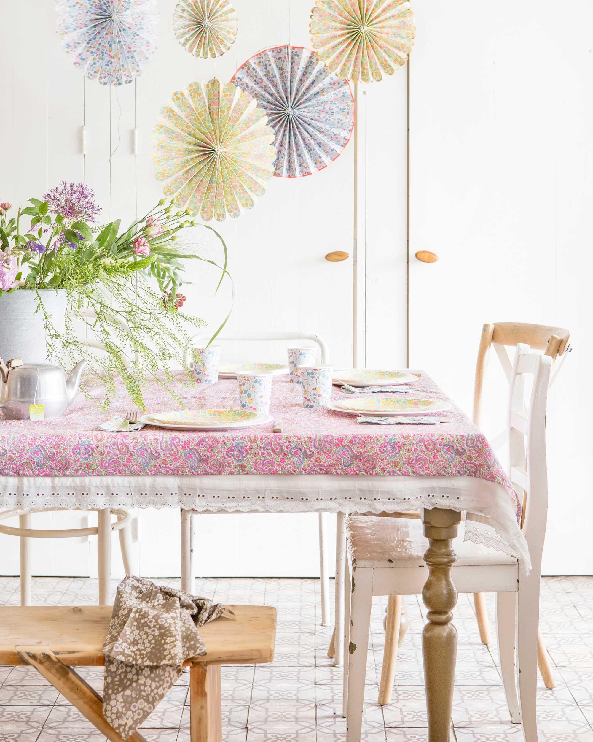 liberty bloemen tafel