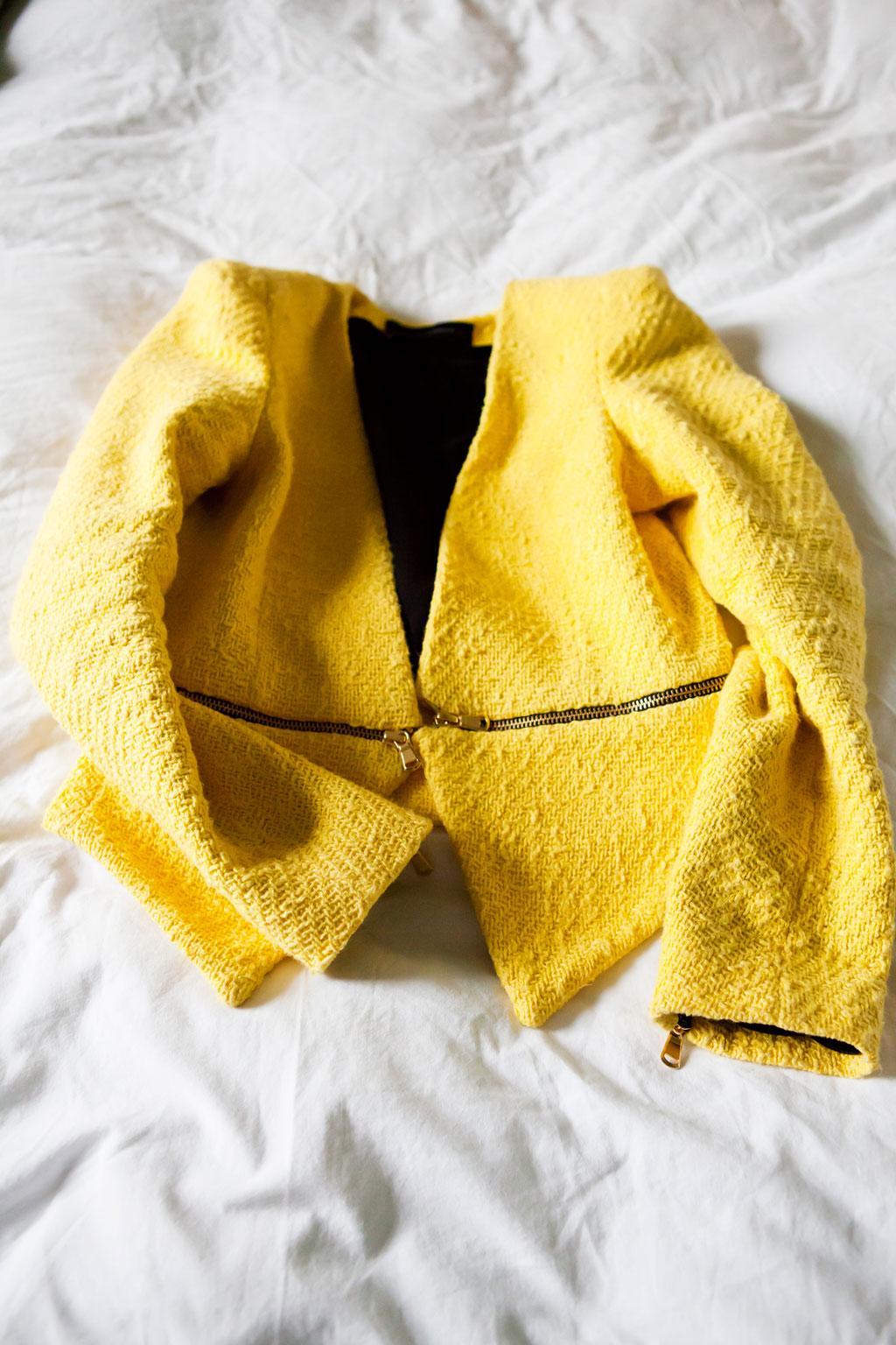 geel colbert jasje
