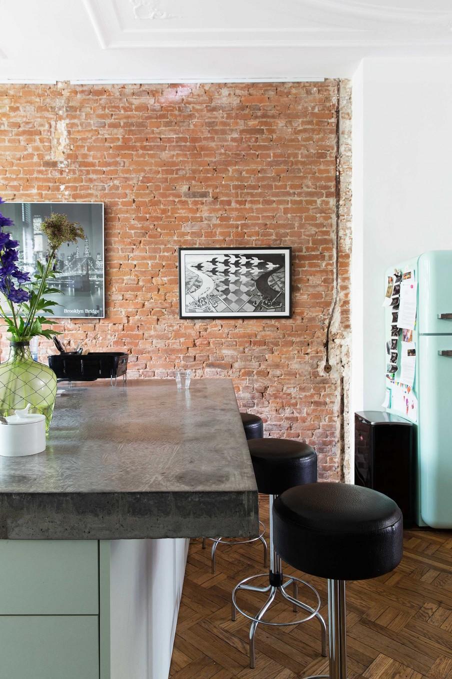 cuisine frigo bleu