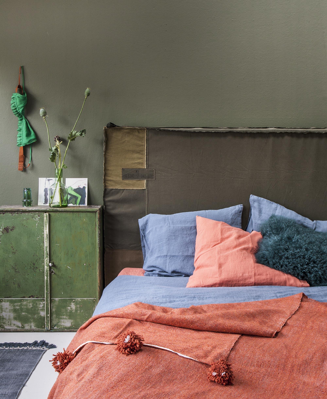 Zachte en pittige slaapkamer
