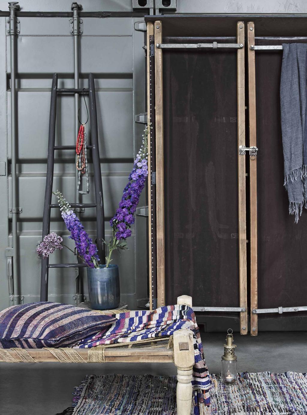 Industriële kast houten daybed