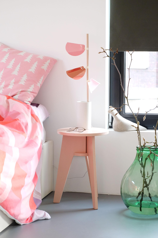 Roze designlamp Folia Lumina Ontwerpduo