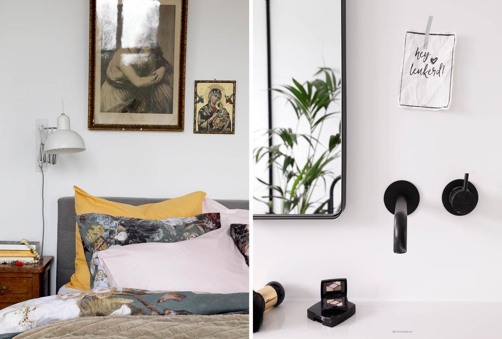 vtwonen binnenkijken in een basic slaapkamer met vintage elementen