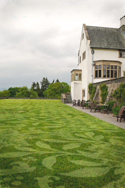 patroon-in-grasveld-maken