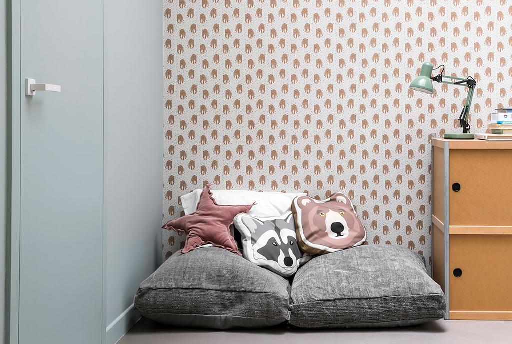 De speelkamer van de kinderen van van Lien en Nicholas uit de vijfde aflevering van het tweede seizoen van Een frisse start met vtwonen.
