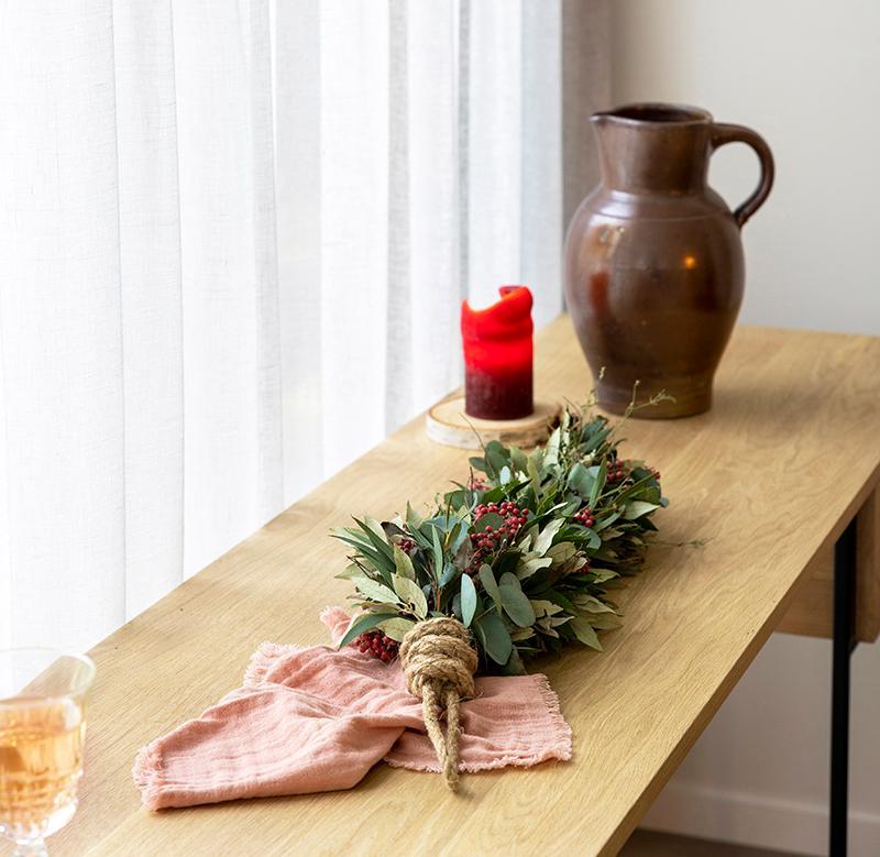 WLS Atelier workshop Table in a Box festoen met pepperberries
