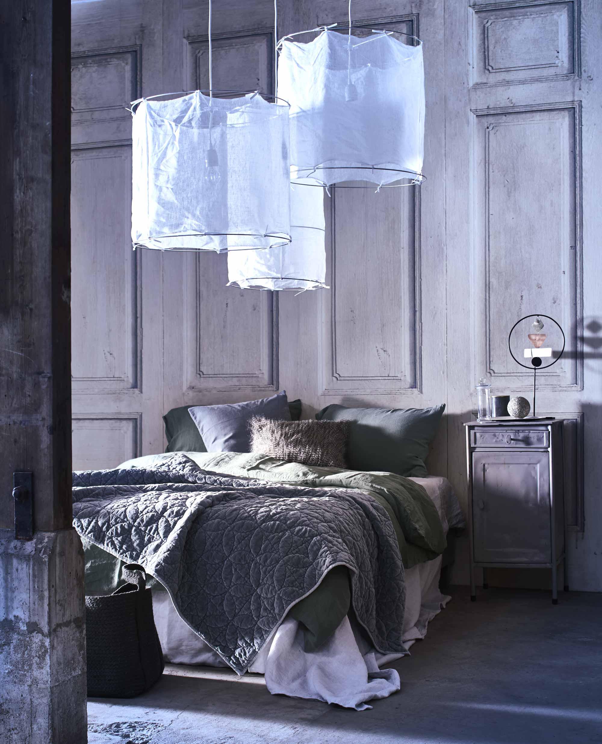 witte hanglampen slaapkamer