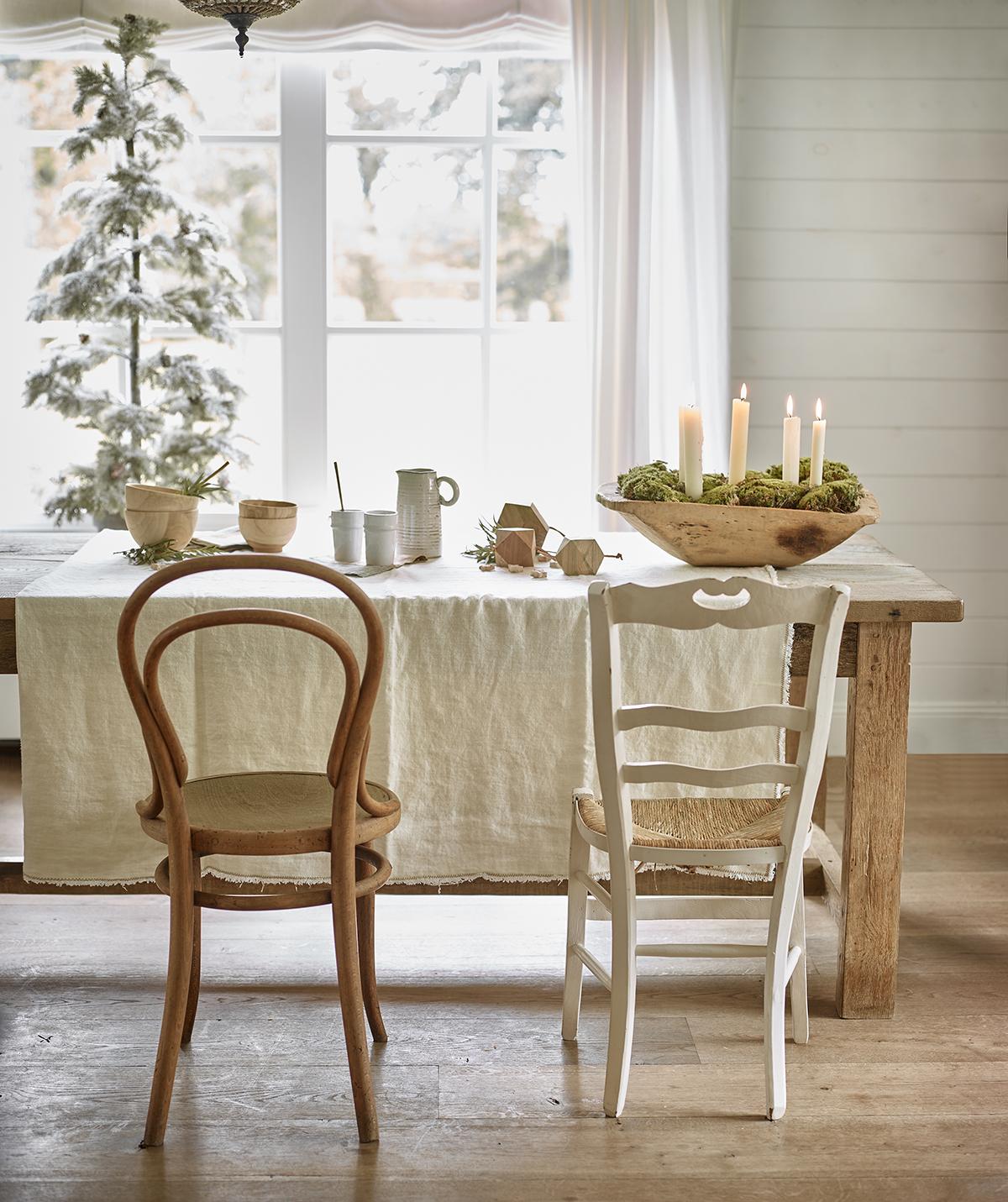 witte kerst ontbijthoek