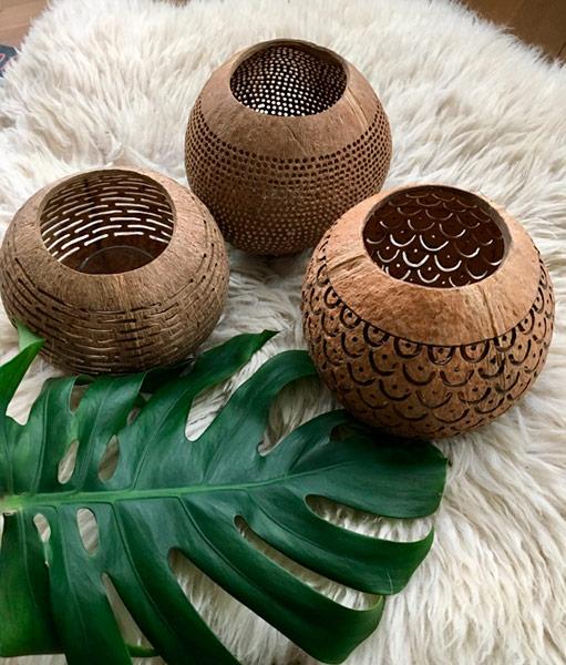 kokosnoot kandelaars