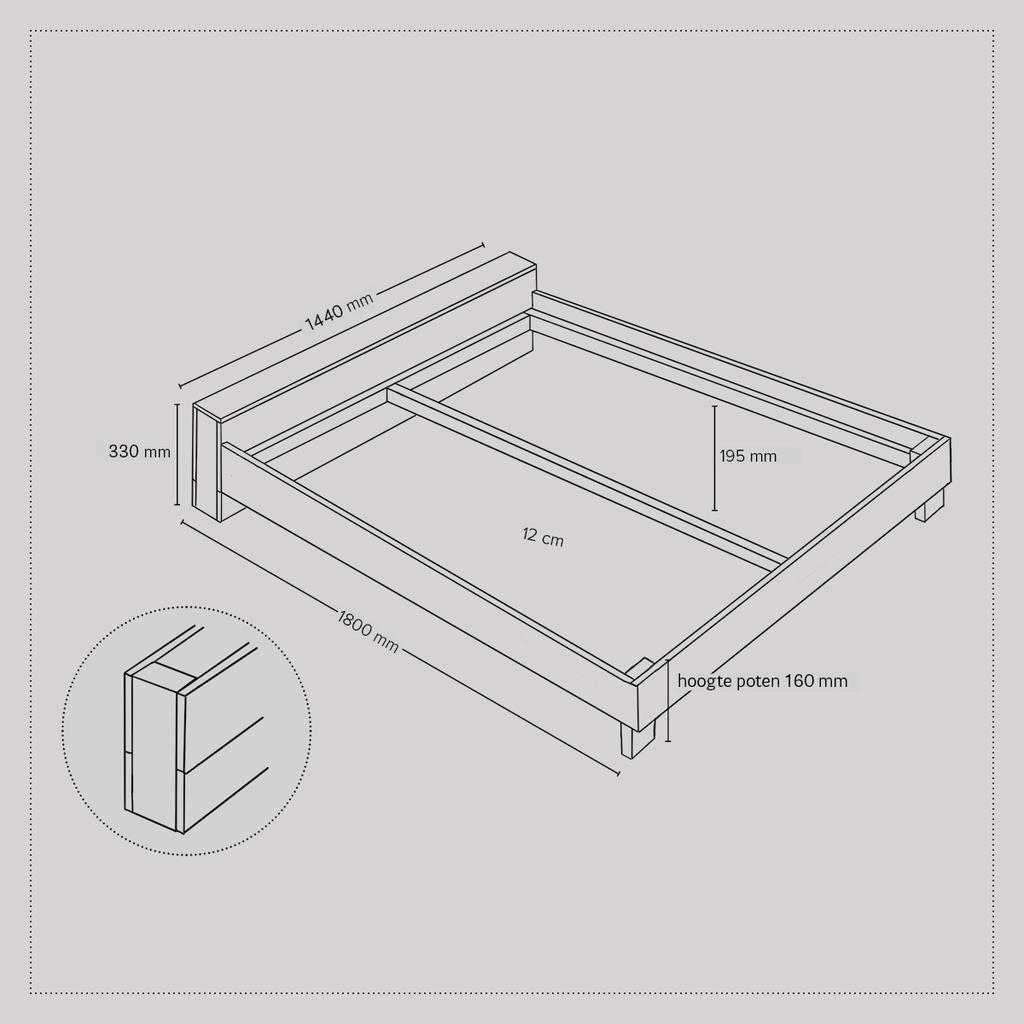 Werktekening | Loungebed