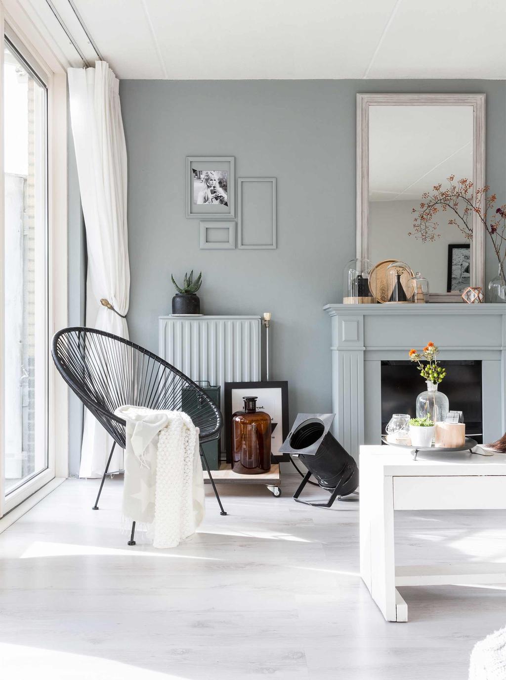 woonkamer blauw groen