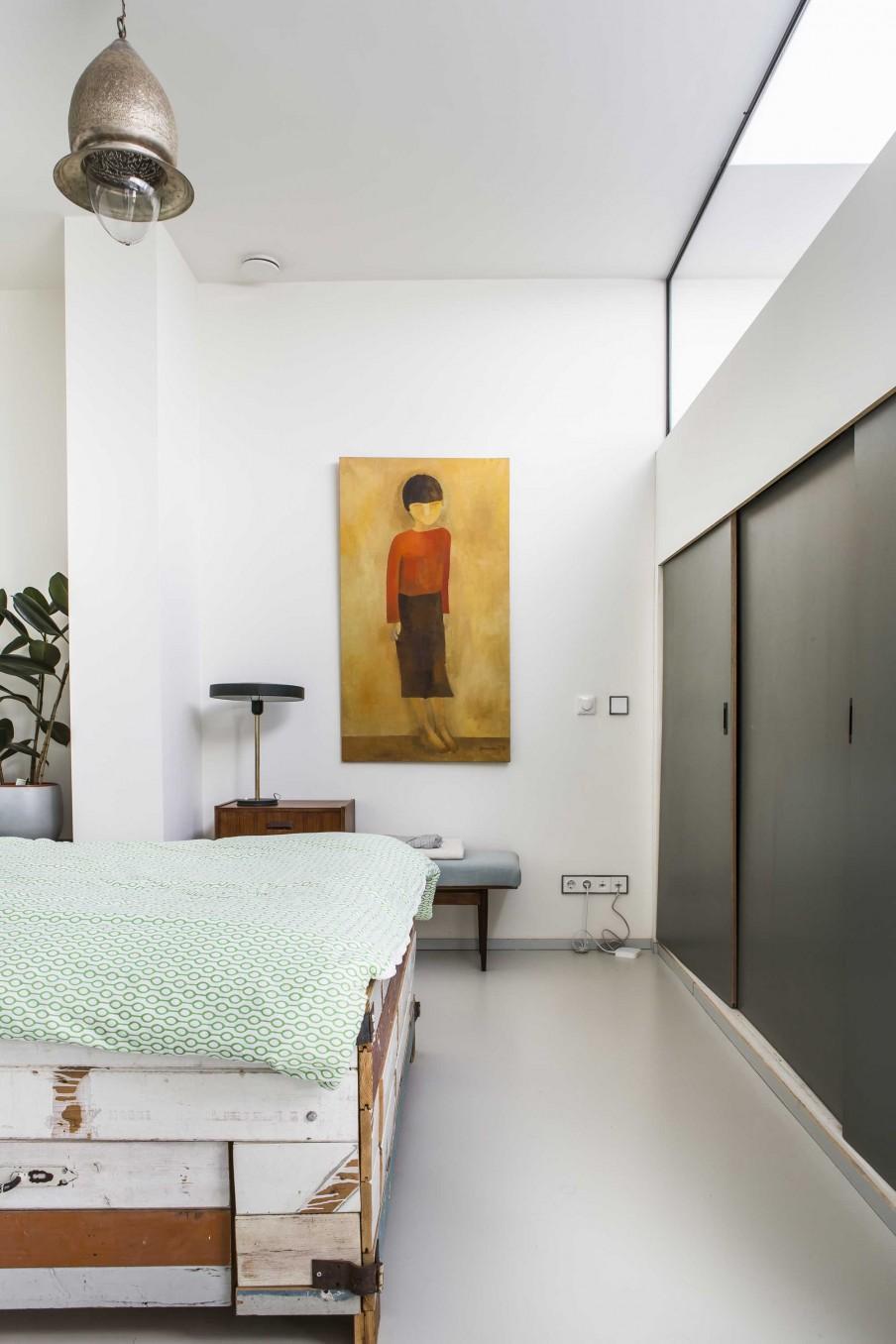 chambre portes coulissantes grises