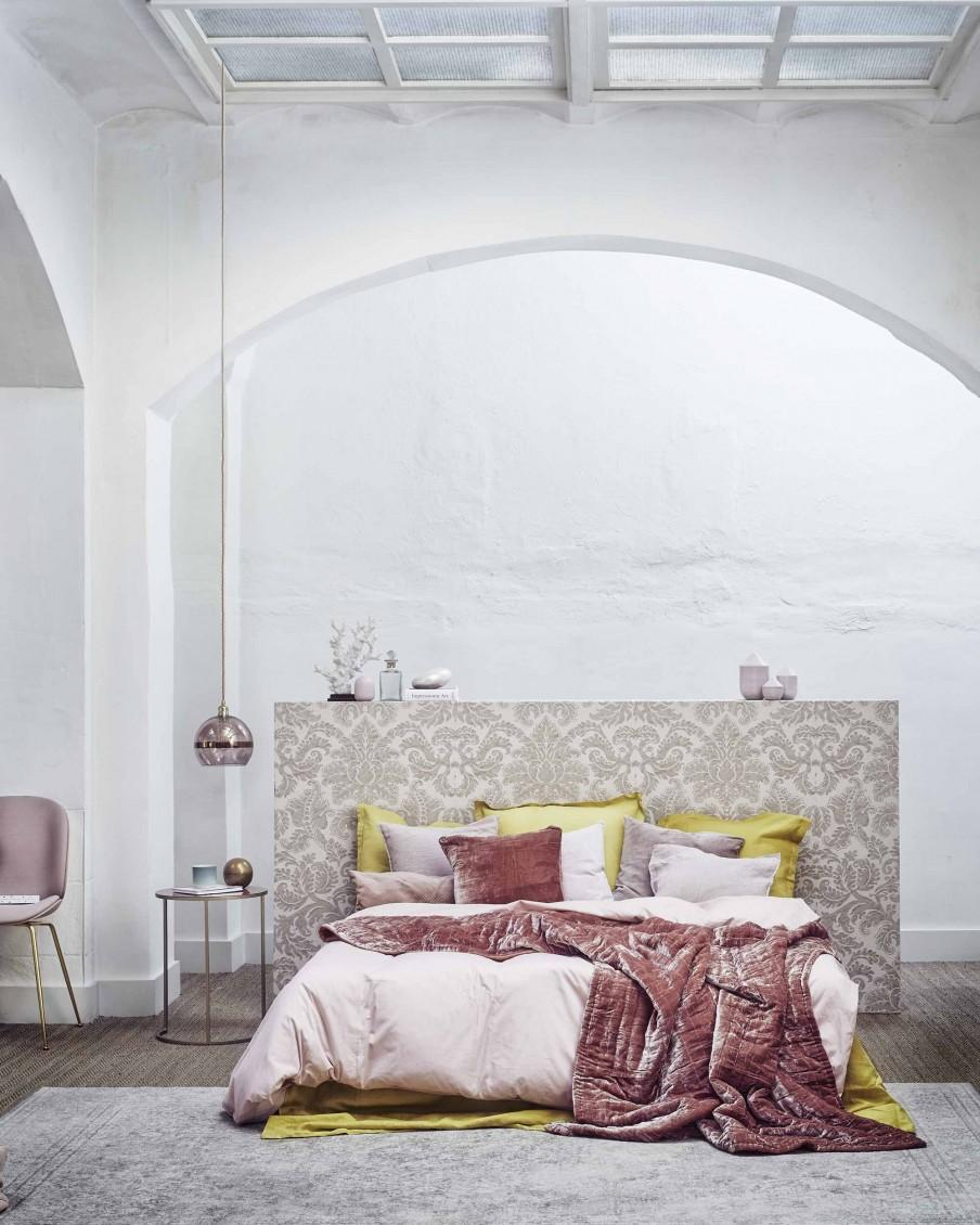 chambre rose et or