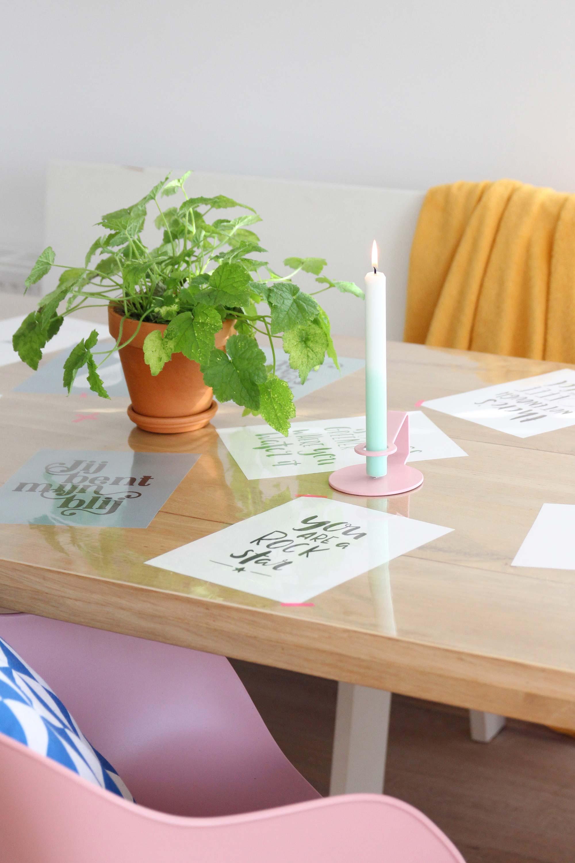 elske posters tafel roze