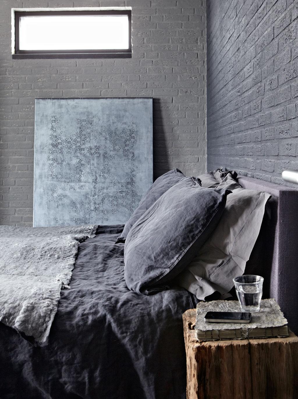 donkergrijze slaapkamer