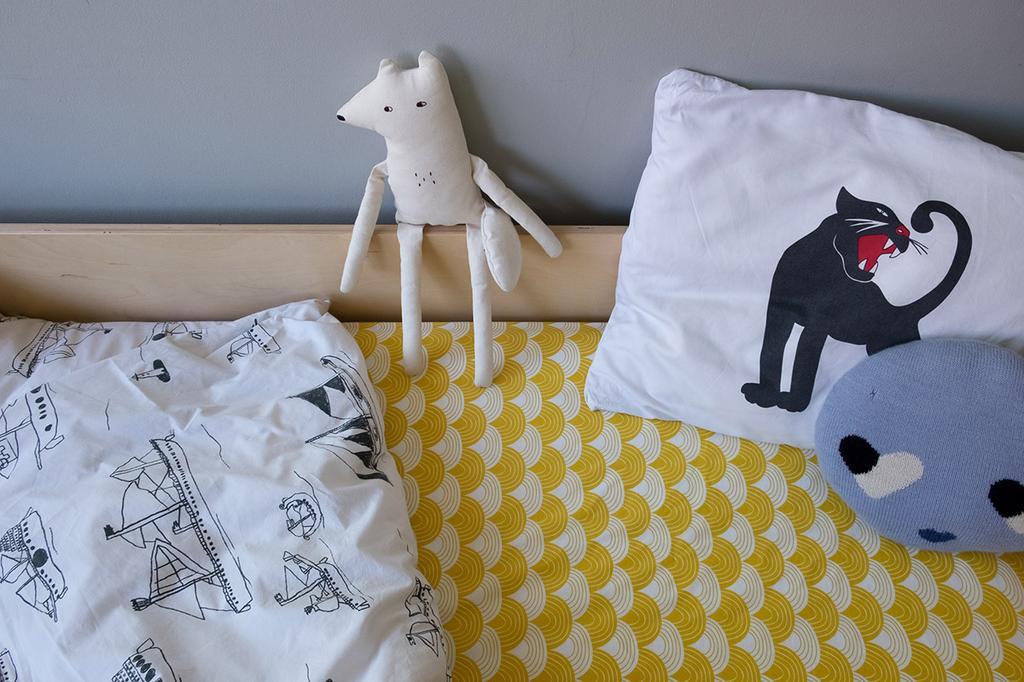 Geel bedtextiel van Swedish Linens