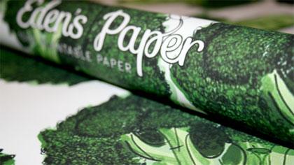 Groen inpakpapier moestuin