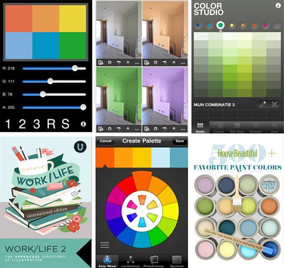 Verf en kleur apps kunnen helpen bij het maken van de juiste kleurkeuze