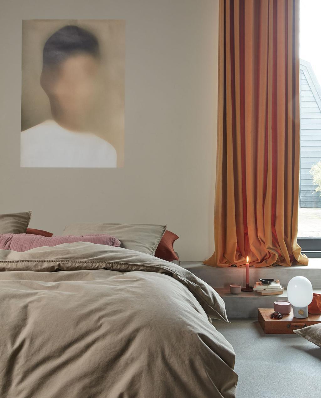 vtwonen 10-2019 | slaapkamer nude linnen natural stone bedlinnen