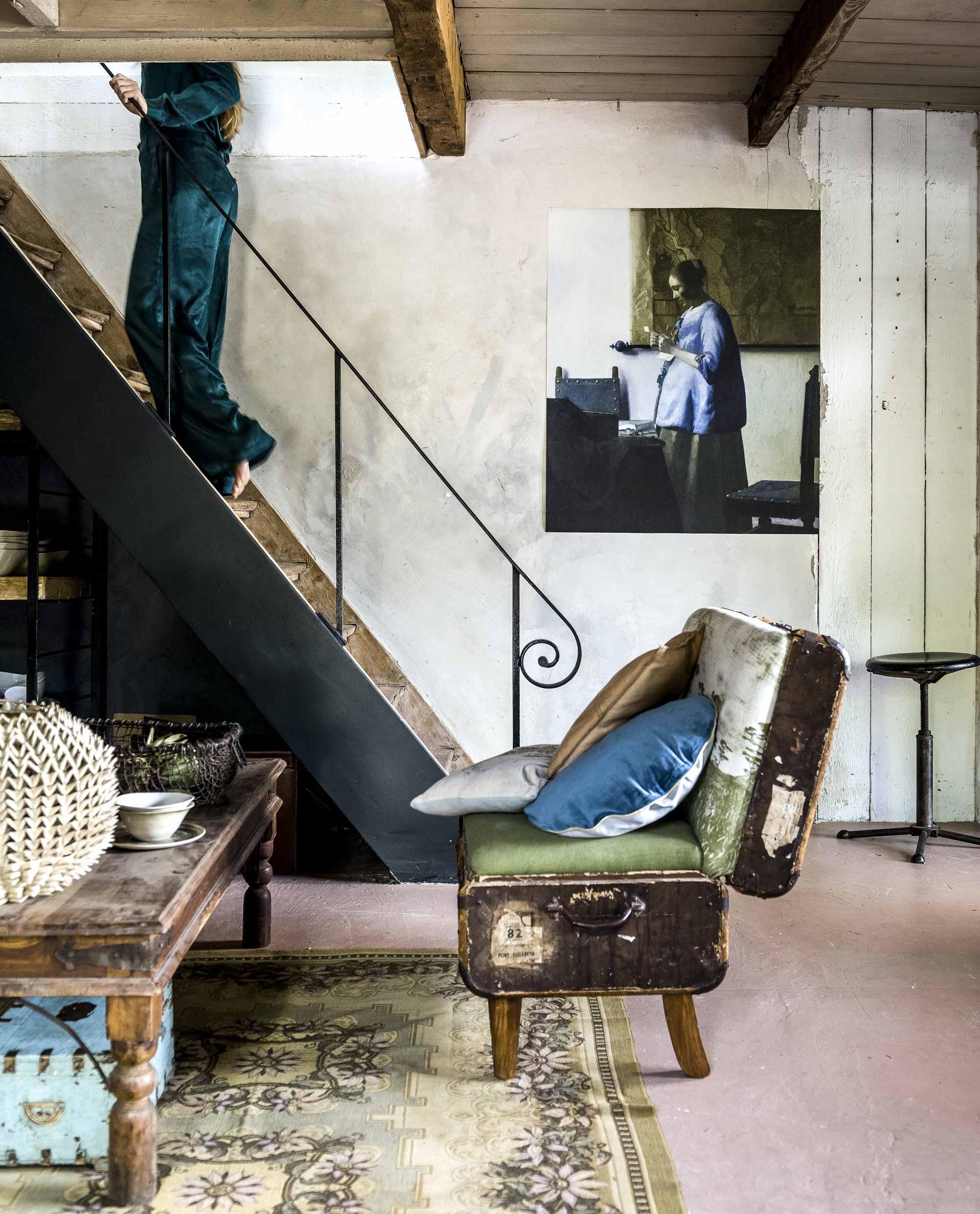 oude trap vintage meubels