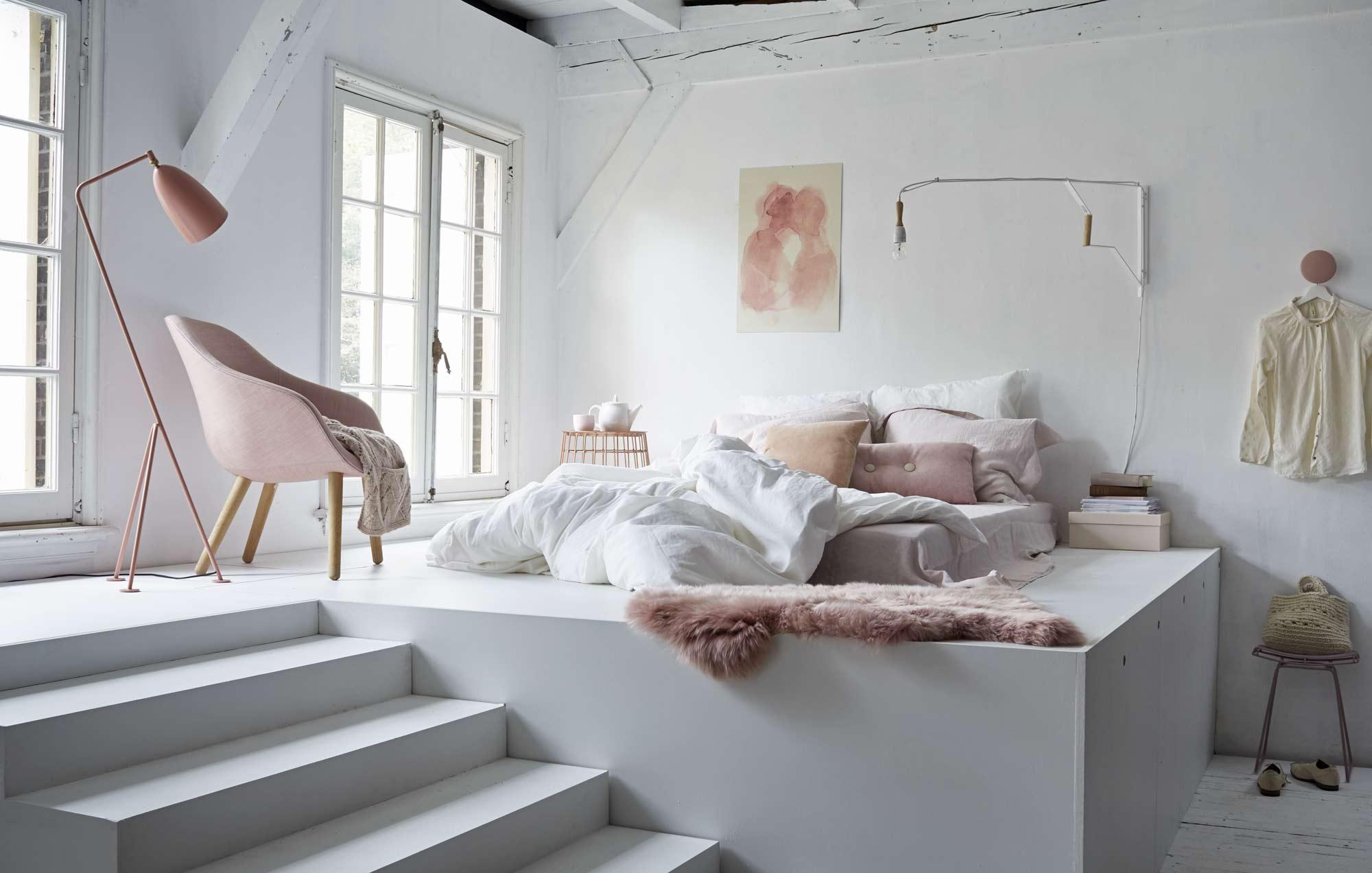 chambre tons pastel