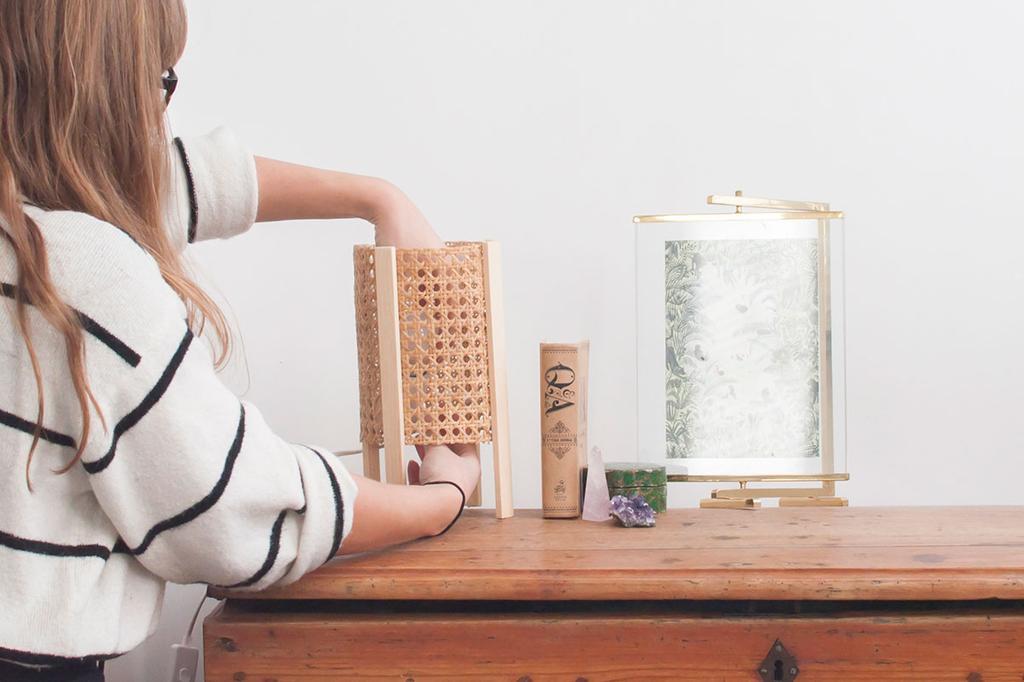 DIY rotan webbing tafellamp door Zolea