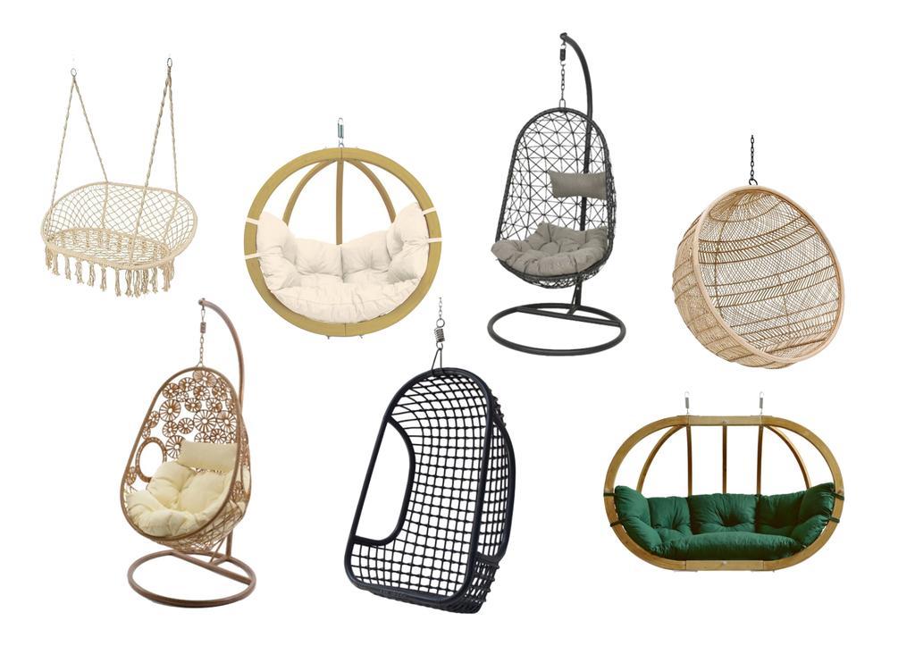 collage hangstoelen
