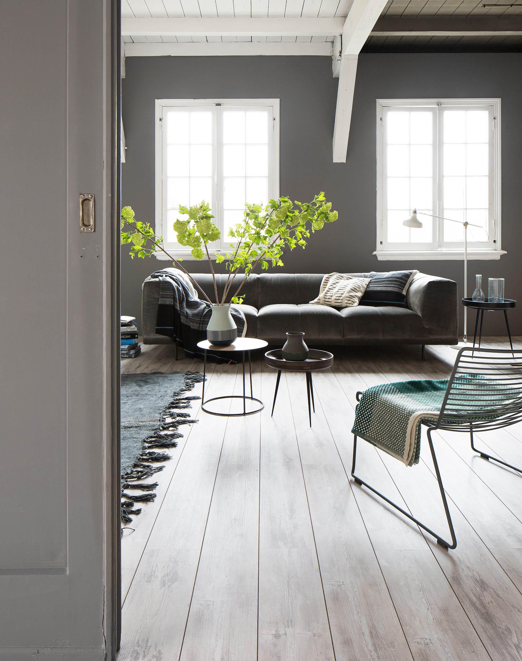 intérieur moderne tons gris
