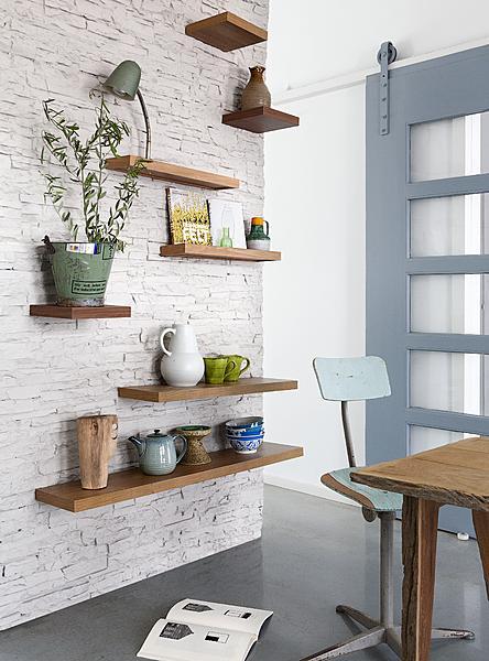 houten planken aan de muur