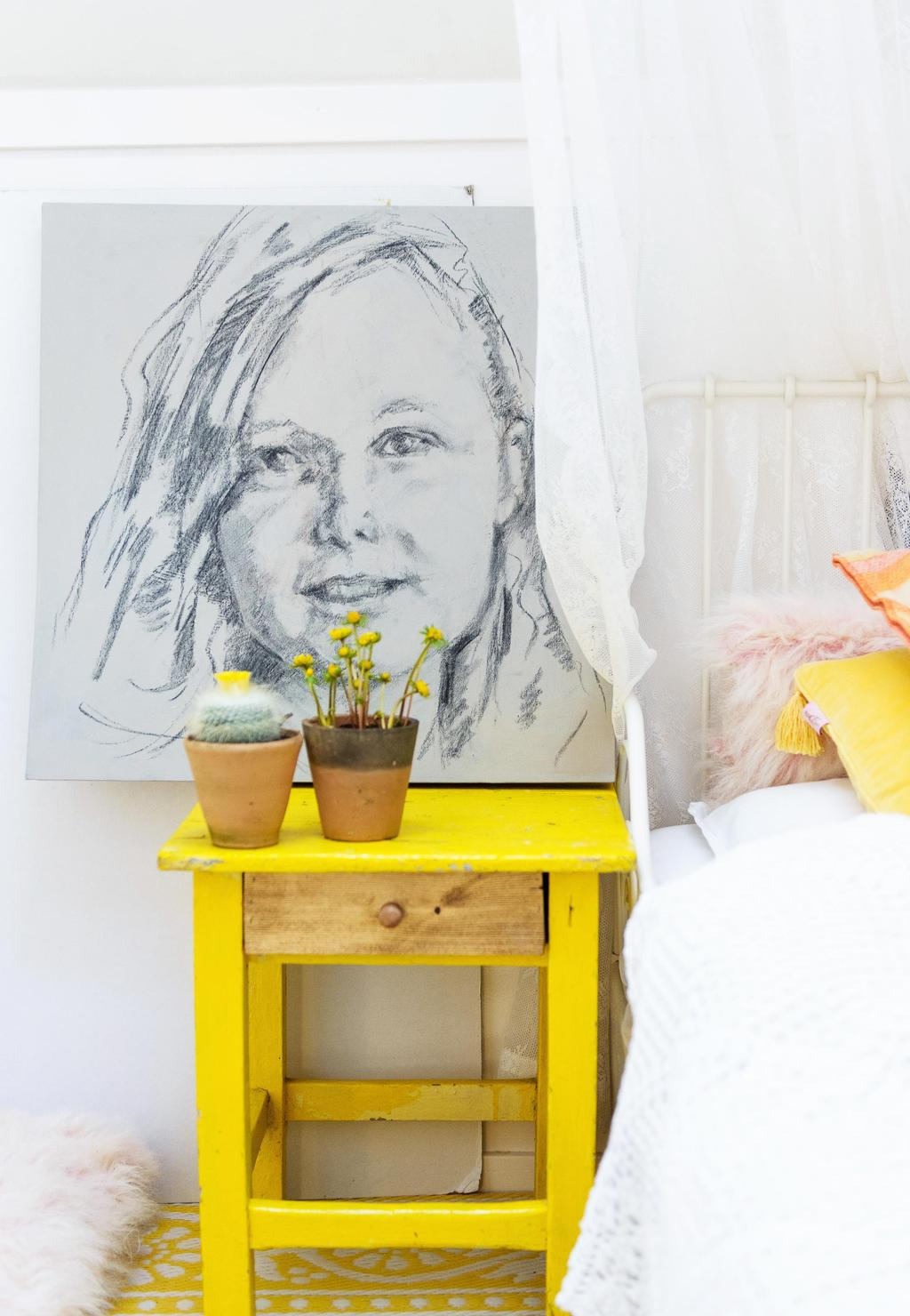 nachtkastje geel