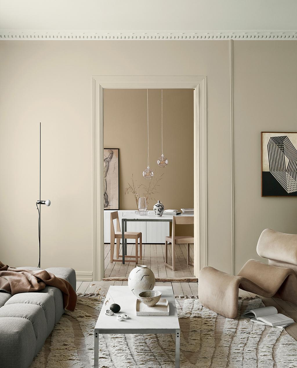 vtwonen 03-2021 woonkamer met neutrale kleuren