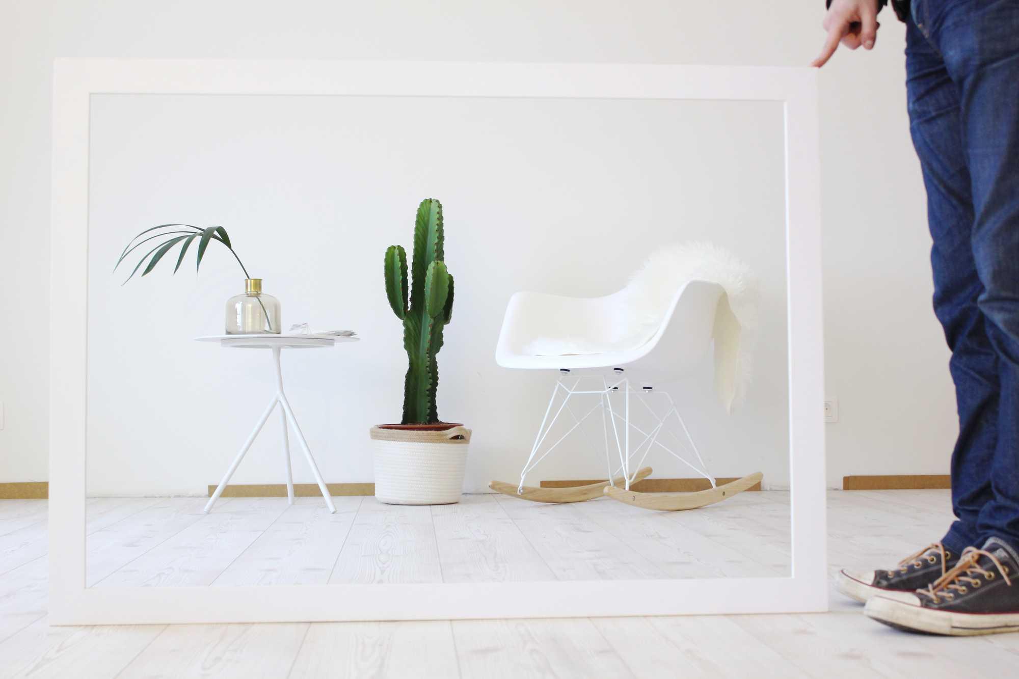 blogger verf wit schilderen canvas
