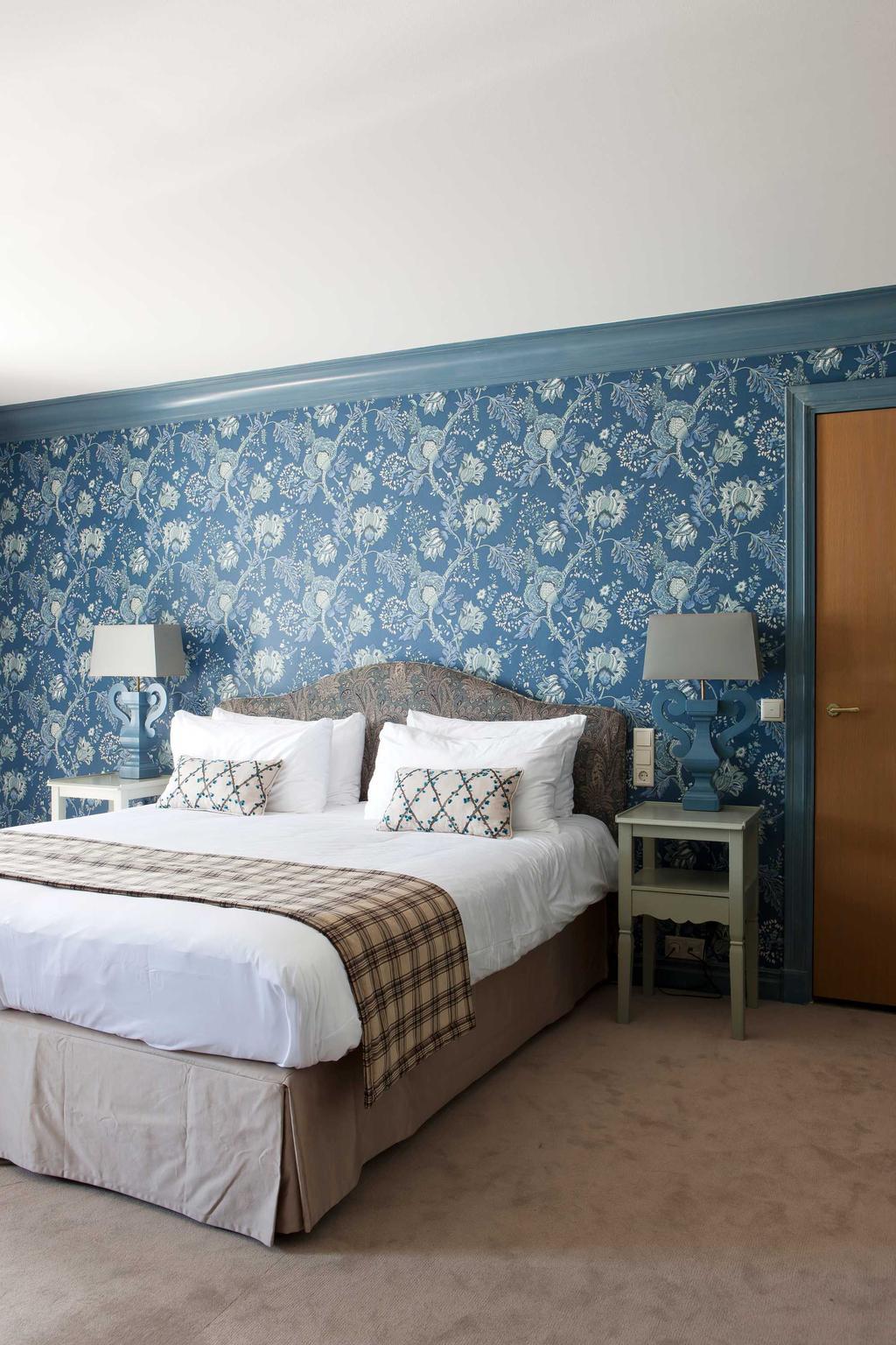 logeren slaapkamer blauw