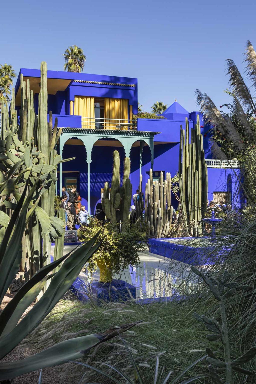 Marrakech vtwonen citytrip blauw huis