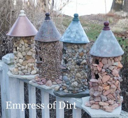 Stenen vogelhuisjes maken (http://www.empressofdirt.net/)