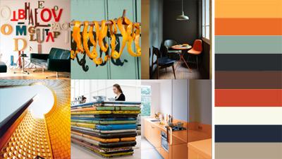 Retro kleuren in huis
