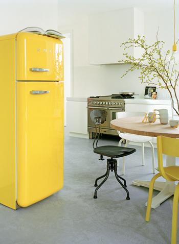 gele koelkast
