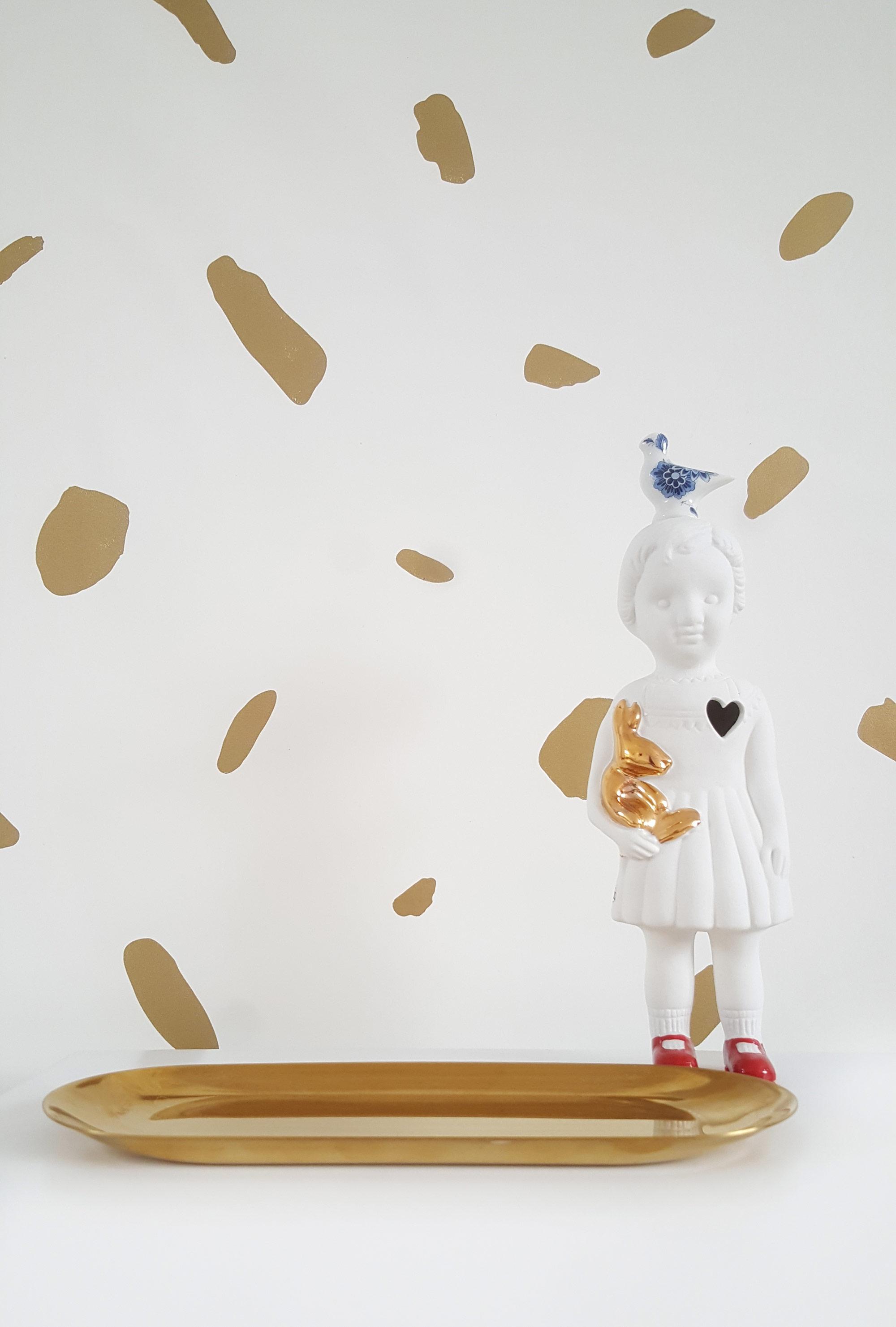 Wit goud behang van Mamoesjka