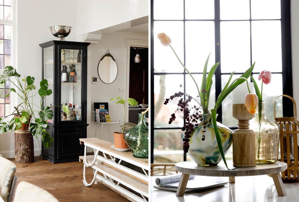 vtwonen binnenkijken in een statige villa in Utrecht zwart-wit wonen